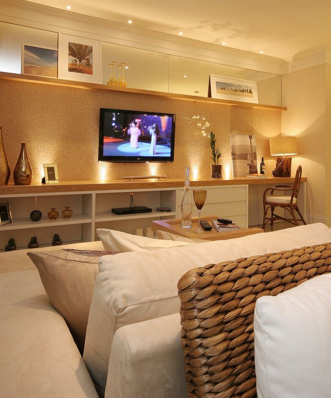 Sala Tv Home Theater ~  TV on Pinterest  Madeira, Modern tv wall units and Modern tv units