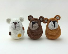 Free crochet pattern for bears