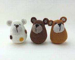 Free crochet pattern for bears