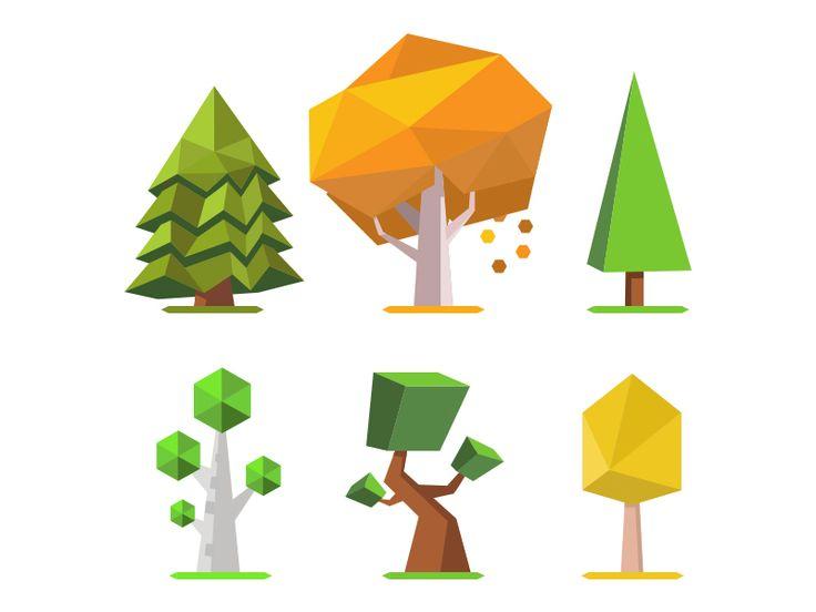 Low Poly Trees 2D by Boris Kondratenko (Don Artua)