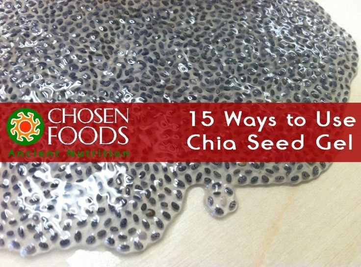 15 Ways to use Chia Seed Gel. If you are in a chia gel rut and have run out of unique ways to use this superfood concoction this list is a must-see! www.chosen-foods.com