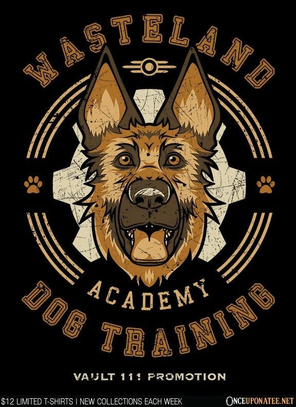 Dogmeat Training Academy is available on t-shirts, hoodies, ornaments, and more until 12/14 at OnceUponaTee.net starting at $12! #Fallout #Gaming #VideoGames