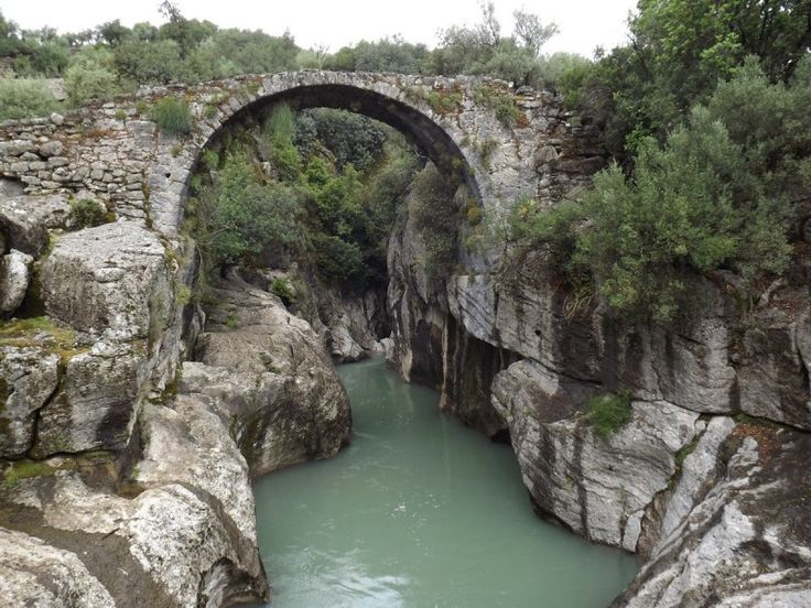 A Thousand-year-old Bridge in Turkey. I wouldn't want to walk on it, just see it