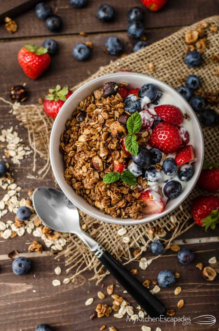 Homemade granola cereal is so simple and healthy. This recipe turns out with big chunks of granola and loaded with almonds and raisins, or use your favorite