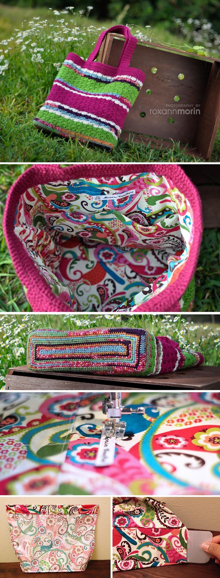 Crochet Sweet Pea Tote Bag