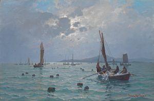 Haaland, Lauritz - Sildefiske, 1892 / Vårens moderne og eldre - kunst og sølv…