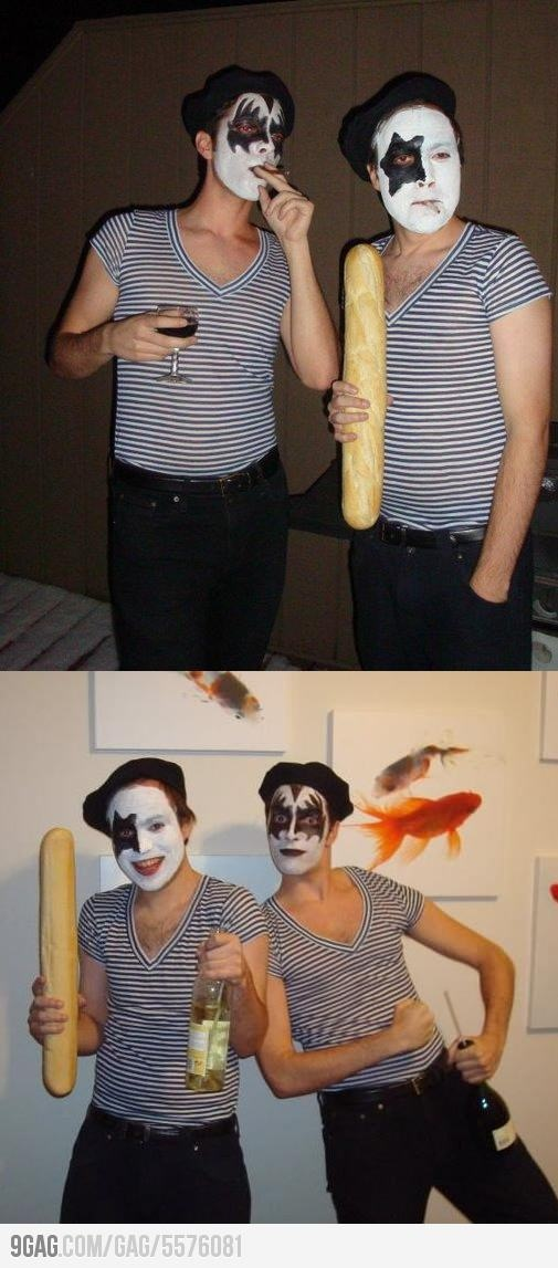 Pun costumes are always best: French Kiss