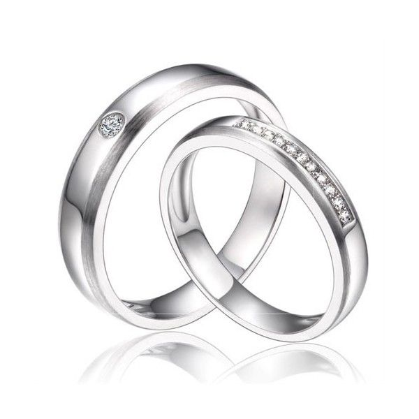 Matching Bands: Inexpensive Couples Matching Diamond Wedding Ring Bands On