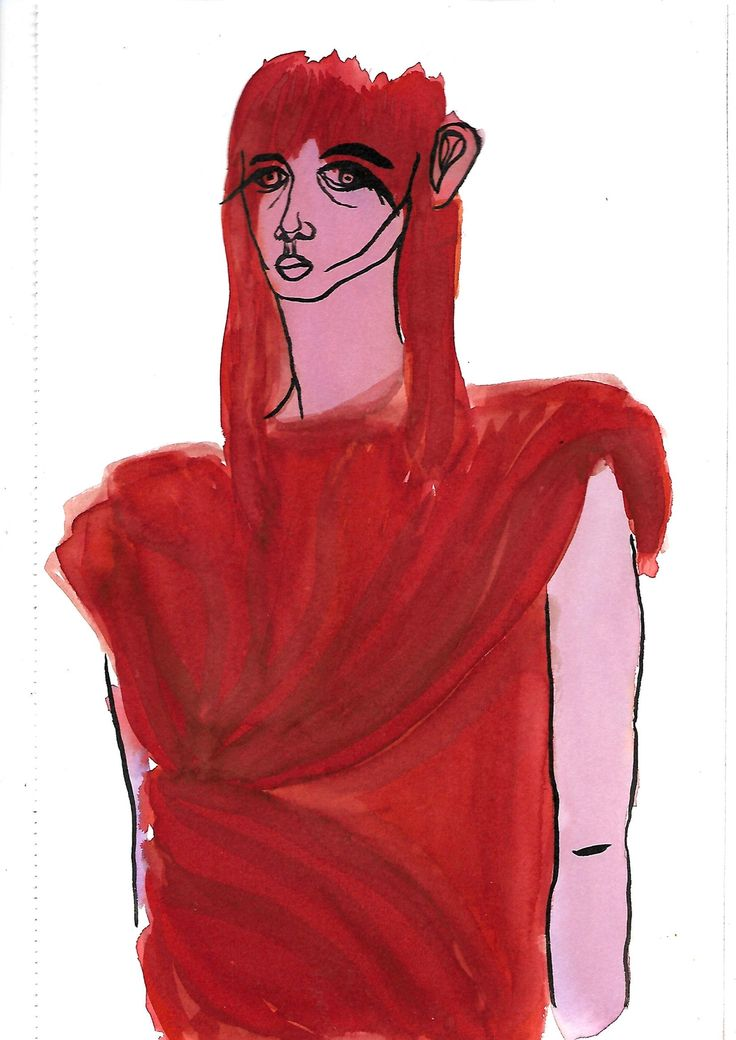 Fashion illustration for Rick Owens ss17 via Arianna Razzano. Click on the image to see more!