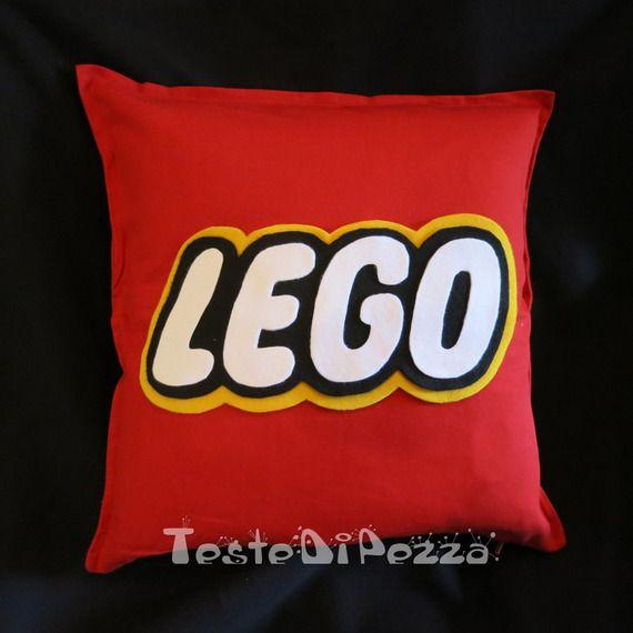 Cuscino Lego sfoderabile in cotone rosso - 50 x 50 cm