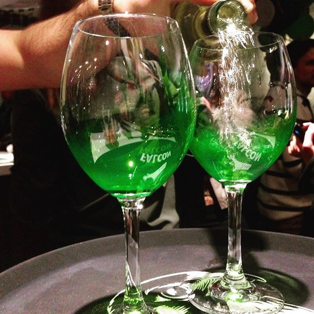 Our special green glasses on #stpatricksday #irish #bar #stockholm #sweden