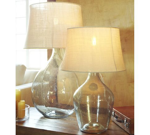 Delightful CFL Clift Glass Oversized Table Lamp Base