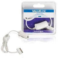 Valueline 30-pins autolader 30-pins dock male - 12V-autoaansluiting 100 m wit (VLMB39890W10)  Deze lader is geschikt voor het laden van verschillende soorten apparaten van Apple met een 30-pins verbinding in een auto. 30-pins dock-autolader. Geschikt voor: - iPod touch 4e generatie 8GB 32GB 64GB - iPod nano 6e generatie 8GB 16GB - iPhone 3Gs 8GB 16GB 32GB - iPhone 4 8GB 16GB 32GB - iPhone 4s 16GB 32GB 64GB - iPad 16GB 32GB 64GB - iPad 2 16GB 32GB 64GB - iPad 3de generatie  EUR 10.89  Meer…