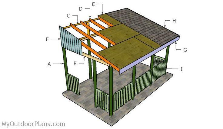 Building a lean to gazebo free gazebo plans pinterest for Build your own gazebo free plans