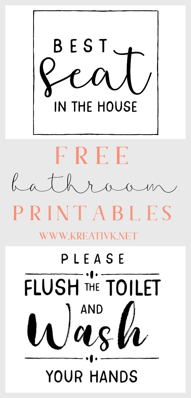 2 Free Bathroom Printables Bathroom Printables Free Bathroom