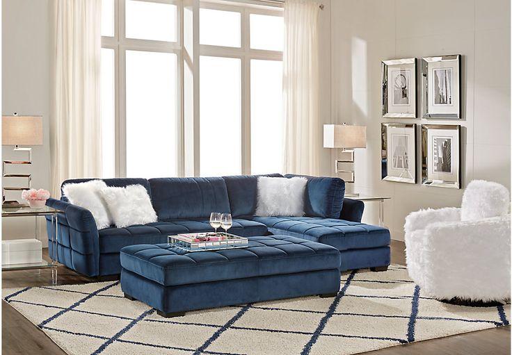 Best Largo Drive Indigo 3 Pc Sectional Living Room Living 400 x 300