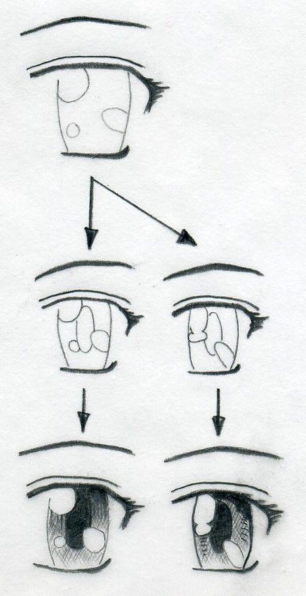 Easy Anime Face : anime, Cartoon, Manga, Eyes,, Drawing,, Drawing, Tutorial