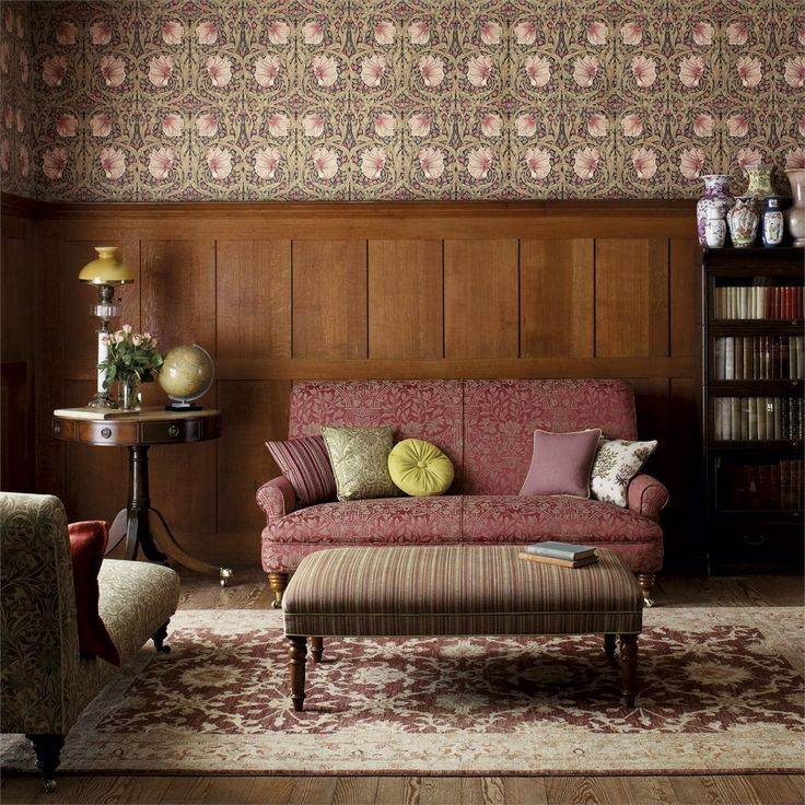 Pimernel is another iconic wallpaper design from Morris & Co - find it in the Archive Wallpapers Collection at British Wallpapers: http://www.britishwallpapers.co.uk/william-morris-archive-wallpapers/