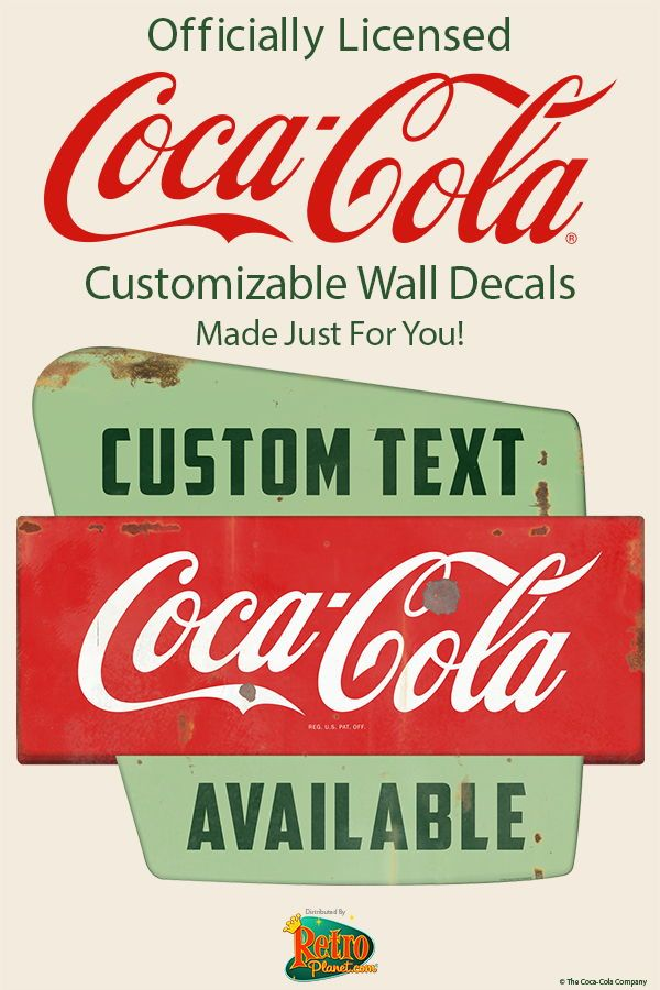 Our customizable Coca-Cola wall decals can be printed with any text ...