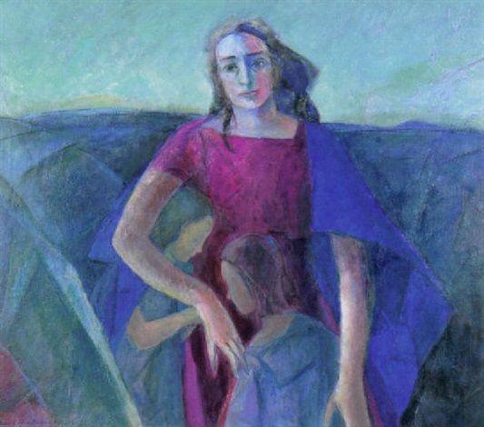 Medea by Eva Cederström, 1963–1965, Oil on Canvas, 100 x 115 cm. (39.4 x 45.3 in.)