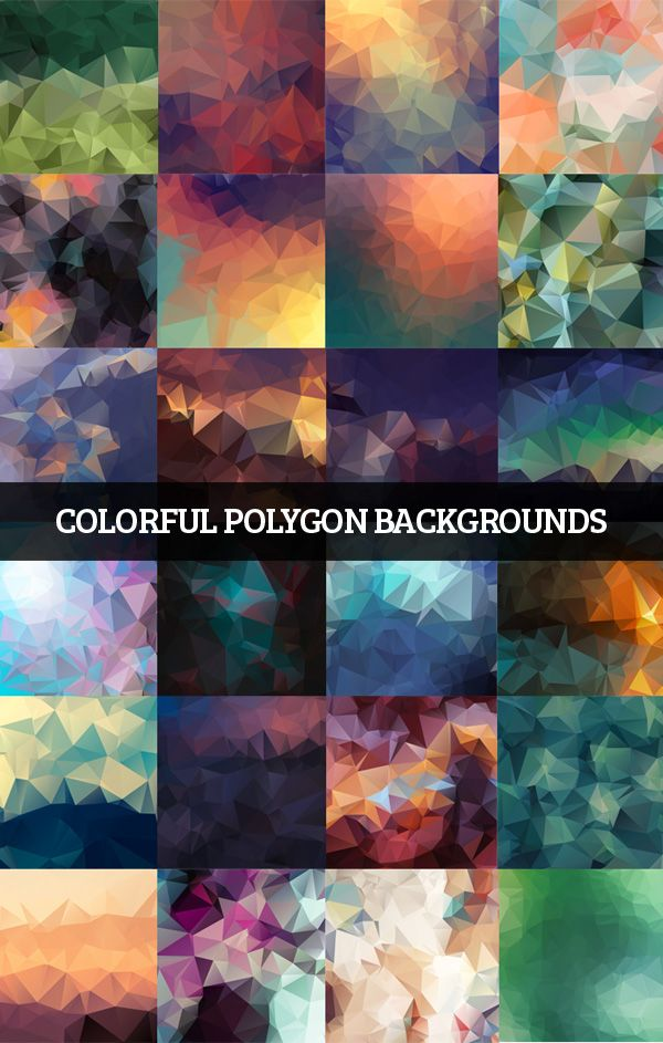 Colorful Polygon Backgrounds #lowpolybackgrounds #geometircbackgrounds #polygonalbackgrounds
