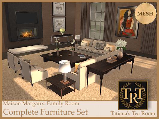 Maison Margaux Family Room Furniture Set   #SecondLife
