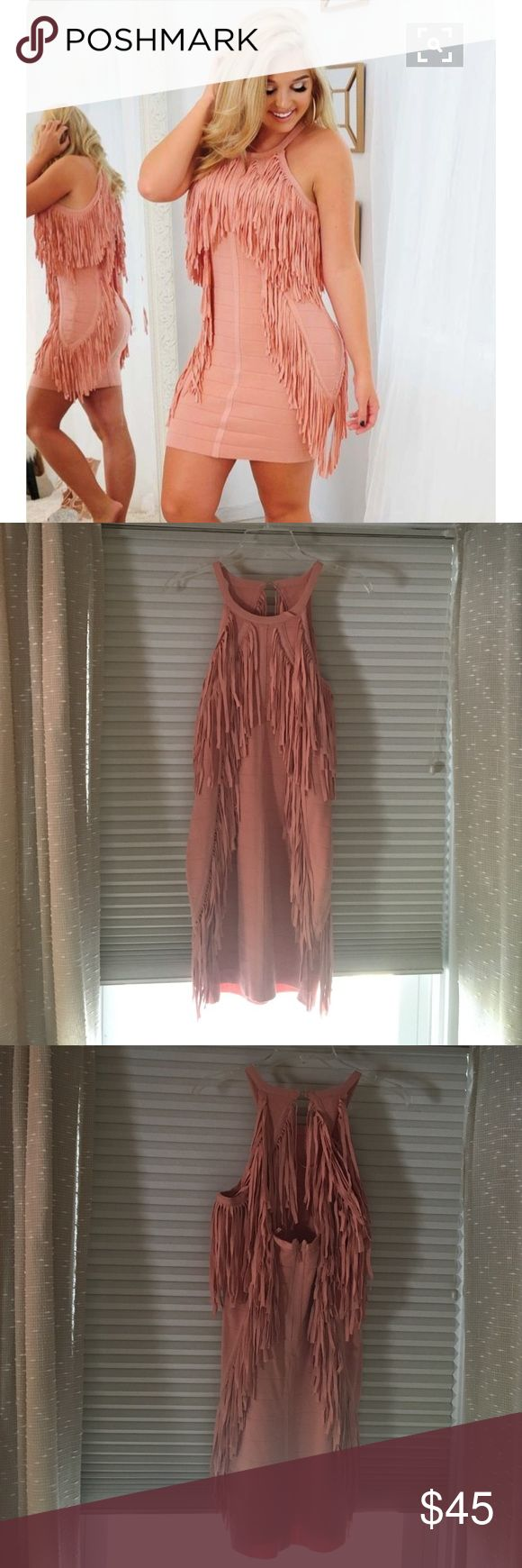 Pink/Blush Frilly Dress Brand new! Never been worn! Still has tags. Fits true to size. Zips in the back. I love this dress but just haven't had anywhere to wear it :/ Shop Hope's Dresses Mini