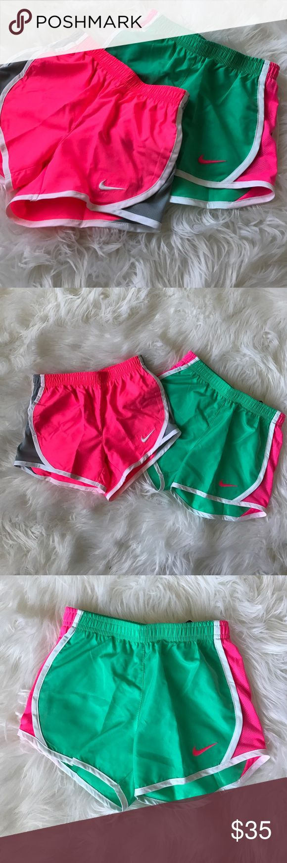 Nike shorts bundle Girls Nike shorts bundle, both have the built in underwear & store tags! Retails for $50 combined Nike Bottoms Shorts