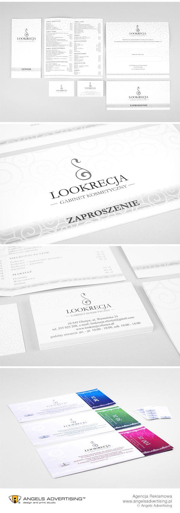 Logo i materiały drukowane dla prestiżowego Salonu Kosmetycznego w Olsztynie. #salonkosmetyczny #logo #brand #agencjareklamowa