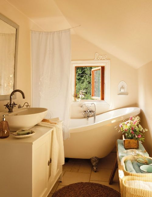 House Beautiful Bathrooms: Country Bath (that Tub Looks So Relaxing...cool Summer