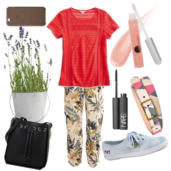 Green Vintage by hanifahcandra on Polyvore featuring polyvore fashion style Lucky Brand rag & bone Keds CHARLES & KEITH FOSSIL NARS Cosmetics Glo Minerals Potting Shed Creations vintage