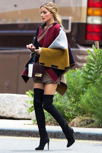 Les 6 accessoires indispensables d'Olivia Palermo : Les cuissardes à bouts pointus