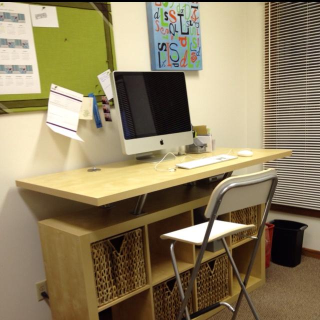 standing desk home office pinterest ikea hacks