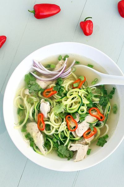 Chicken Pho Zucchini Noodle Soup - Inspiralized