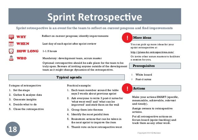 image result for sprint retrospective template download