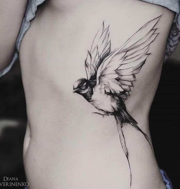 ▷ 1001 + Ideen für ein Vogel Tattoo + Infos über ihre symbolischen Bedeutungen