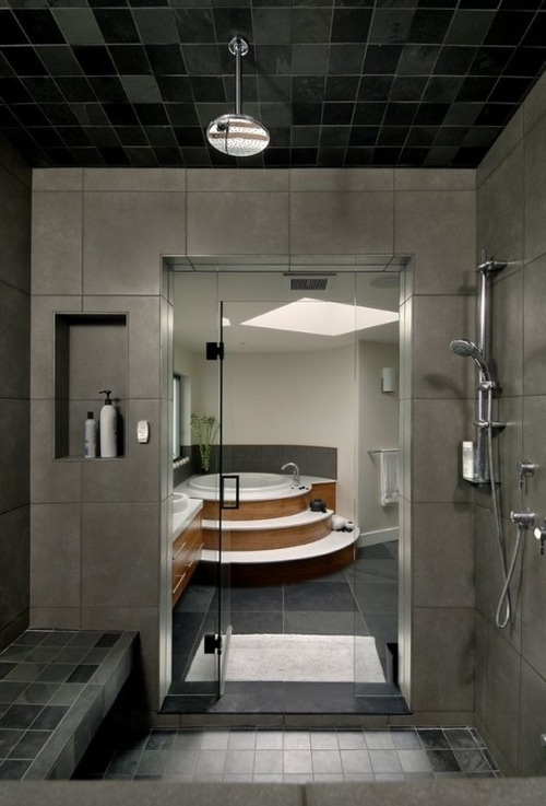 love the massive shower! takes up half the bathroom, just as it should!