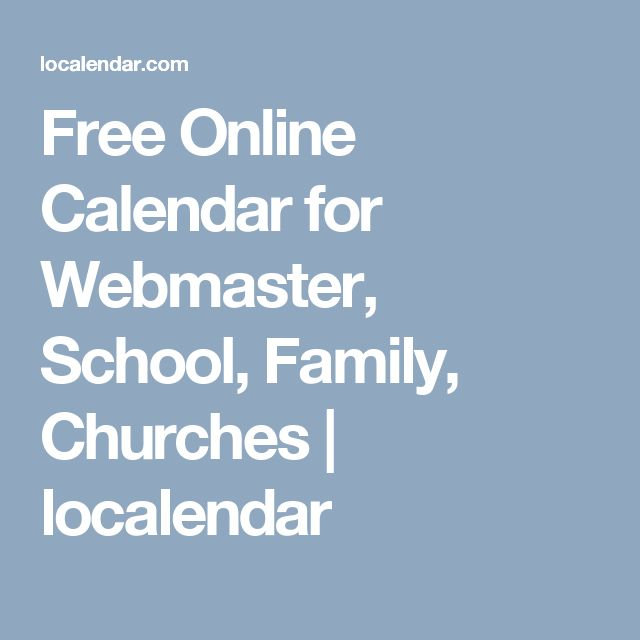 Free Online Calendar for Webmaster, School, Family, Churches | localendar
