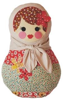 ooshka babushka, molenga, boneca, kit de costura padrão