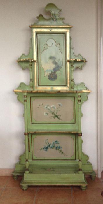 Bijzonder etagère met beschilderde panelen - Italie - 19e eeuw