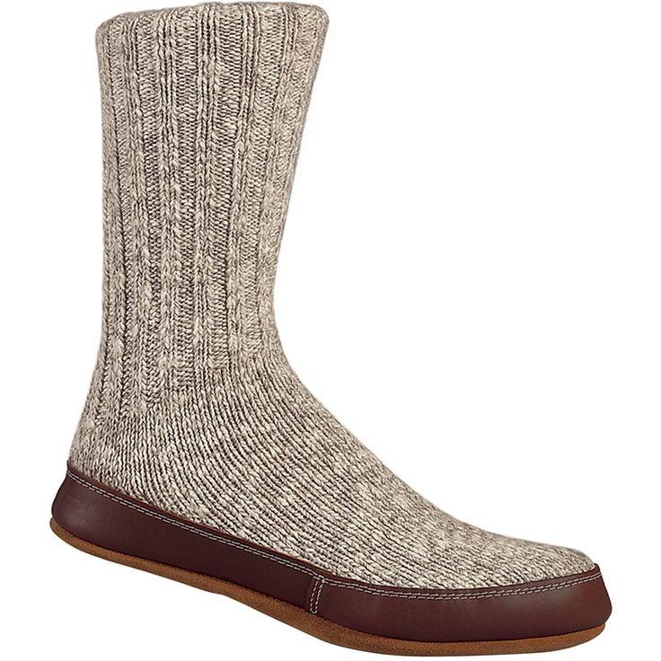 Acorn - Slipper Sock - Women's - Grey Cotton Twist
