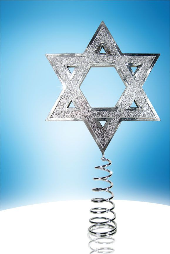 A christmas tree topper for the jews who love to celebrate every holiday