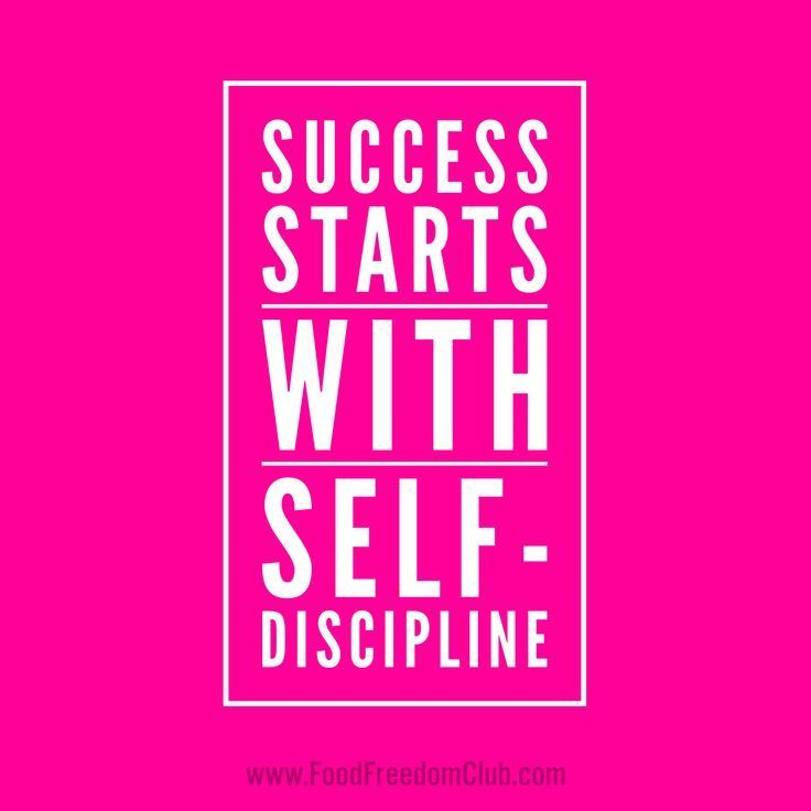 discipline success I see my upbringing as a great success story by disciplining me, my parents inculcated self-discipline and by restricting my choices as a child, they gave me so many choices in my life as an adult.