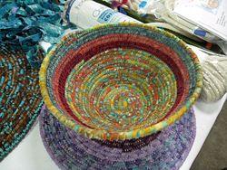 clothesline coil basket