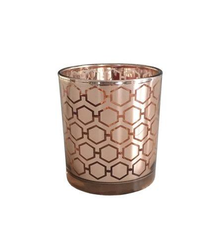 Ljuslykta Bikupa - Kopparfärgat glas 10 cm