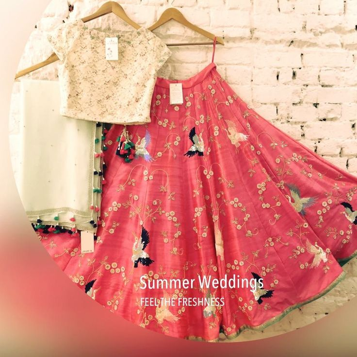 Ivory n pink combination lehenga , super cute