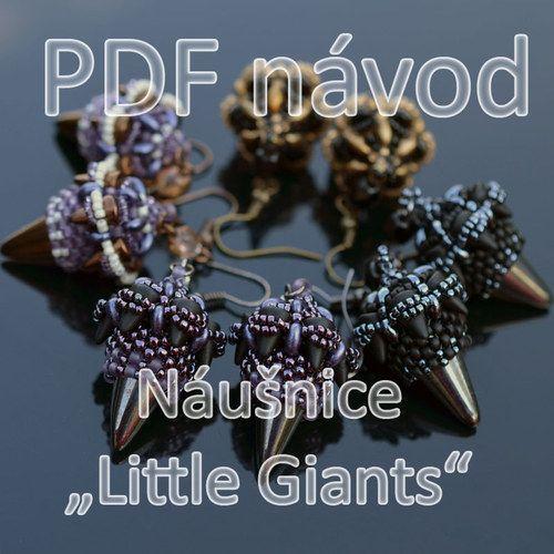 """*P Náušnice \""""Little Giants\"""" - PDF návod"""