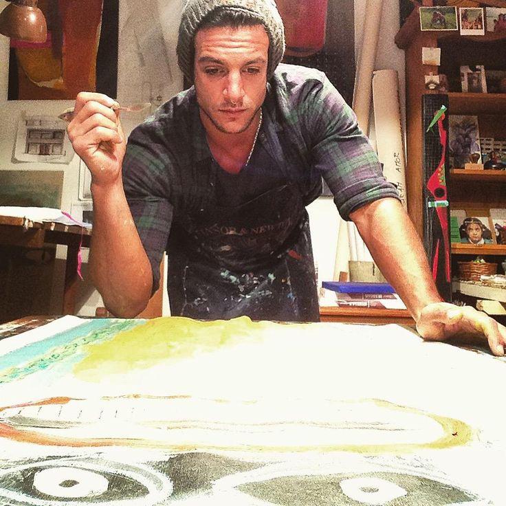 "Joaquín Ferreira: Empezando una nueva serie ""Tipitos"" #MiArteEnTodasPartes #frame #painting #painted #painter #paint #painting"