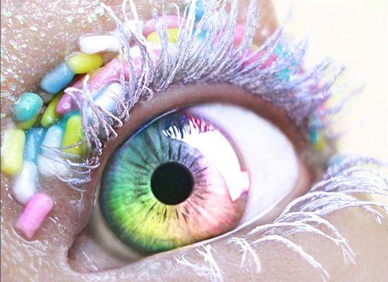Eye Candy: Eye Candy, Eye Makeup, Candy Eye, Amazing Eye, Pretty Pastel, Crazy Eye Color, Eyemakeup, Eye Crystals, Eye Art