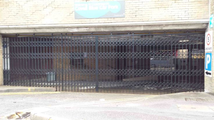 SWS retractable gates installed at Queensgate, Peterborough.